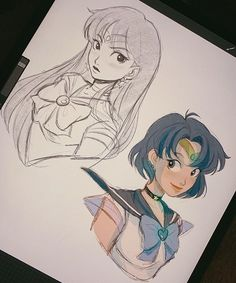 """""""some more self indulgent sketches💙 Sailor Moon, Itslopez, Haikyuu Fanart, Girl Sketch, Cool Animations, Character Design Inspiration, Fantasy Inspiration, People Art, Cute Characters"""