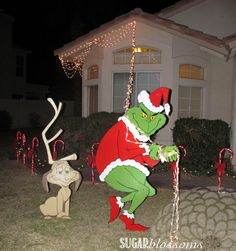 christmas with outdoor inflatable christmas lawn decorations are you little work but one of the best houses in the neighborhood grin - Grinch Christmas Yard Decorations