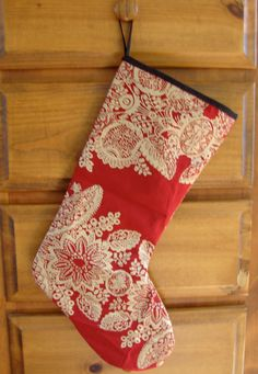 Marimekko Red Tamburiini Christmas Stocking by hannasboutique, $30.00