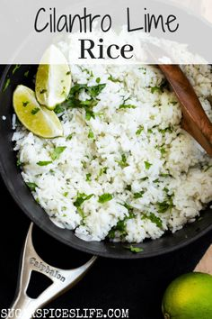 This rice couldn't be easier to make, and it takes your homemade rice to the next level. It's like having a Chipotle in your kitchen. Savory Rice, Savory Snacks, Chipotle Lime Cilantro Rice, White Rice Recipes, Lime Recipes, Healthy Summer Recipes, Healthy Food, Healthy Eating, Beet Hummus