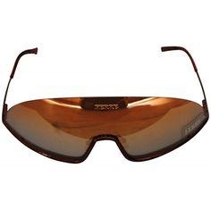 6e763416f6 Gianfrano Ferre Bronze   Gold vintage Sunglasses Chanel Designer