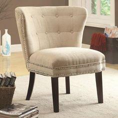 Coaster Home Furnishings Accent Chair, Dark Brown/Beige