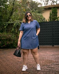 Plus Size Fashion Trends Thick Girls Outfits, Curvy Girl Outfits, Casual Outfits, Fashion Outfits, Fashion Trends, Chubby Fashion, Curvy Women Fashion, Plus Size Fashion Blog, Plus Size Fashion For Women