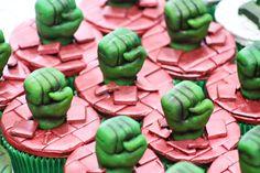 Hulk Birthday Parties, Birthday Party Decorations, 4th Birthday, Party Themes, Hulk Party, Superhero Party, Hulk Cupcakes, Cupcake Cakes, I Party