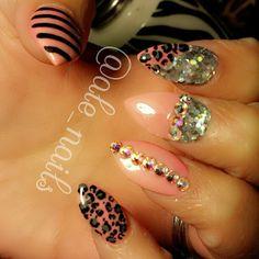leopard pink glitter rhinestone