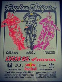 Troy Lee Designs poster, 2013 Monster Supercross