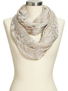 Women's Paisley Infinity Scarves | Old Navy