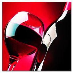 Red Wine by Roderick Stevens Painting Print on Wrapped Canvas