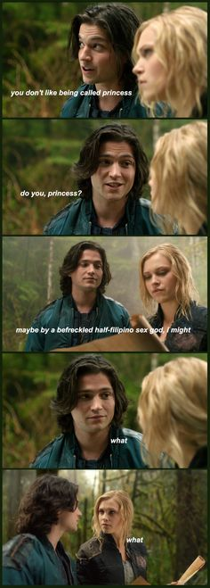 Sara watches the 100 || The 100 season 1 episode 1 || Finn Collins, Clarke Griffin (and Bellamy Blake) || Thomas McDonell and Eliza Jane Taylor || Bellarke