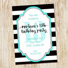 13 Year Old Birthday Party Invitations Party Ideas for Kids
