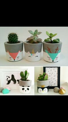 DIY Pretty Face Planters - Gold Standard WorkshopDIY Painted Face flower pots from Gold Standard WorkshopBest floral design painting flower pots ideasBest flower design painting flower pots ideas Flower Pots Diy Plants 34 Painted Plant Pots, Painted Flower Pots, Cement Flower Pots, Decorated Flower Pots, Painted Pebbles, Fleurs Diy, Art Diy, Concrete Pots, Concrete Crafts