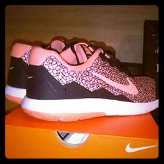 Women's Nike's Gorgeous black and coral/pink women's flex run prem 4 worn once . Super Comfy and gorgeous color and design. Hard to find!! Willing to accept reasonable offers. Nike Shoes Athletic Shoes