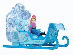 "Disney Frozen Swirling Snow Sled & Anna 4"" Doll"