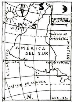 Jaoquín Torres García, Inverted map of America