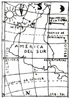 Jaoquín Torres García, Inverted map of America