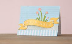Spring Fling Cricut cartridge -- Happiness tulip card. Make It Now with the Cricut Explore machine in Cricut Design Space.