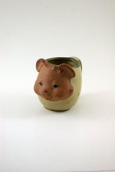 Lovely Little Bear Mug  Japanese Stoneware UCTCI by bitofbutter, $15.00