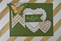 Hearts a Flutter, Fancy Foil Designer Vellum, Mossy Meadow Stampin Up by Cards and Scrapping