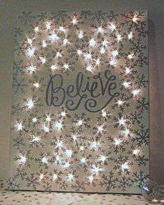 how to make a lighted christmas canvas, christmas decorations, crafts, fireplaces mantels, seasonal holiday decor #ad