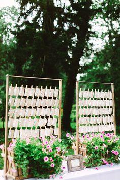 escort card tags - photo by Pat Furey http://ruffledblog.com/rainy-day-wedding-at-fernbrook-farms