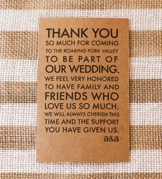 Thank You Note Wedding Gift Not Attending : Welcome Wedding Tag, Wedding Welcome Bag Tag, Wedding Welcome Gift ...