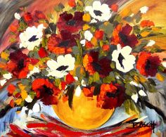 Artwork of Cornelius Bosch exhibited at Robertson Art Gallery. Original art of more than 60 top South African Artists - Since South African Artists, Cornelius, Traditional Paintings, Flower Art, Flower Power, Poppy, Art Ideas, Original Art, Art Gallery