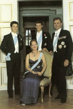 billedbladet: 20th Wedding Anniversary of Queen Margrethe and Prince Henrik, 1987-Crown Prince Frederik and Prince Joachim with their parents