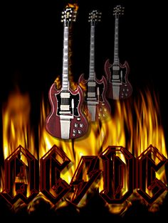 AC/DC-Flaming Guitars (Gif)  AC/DC are an Australian hard rock band, formed in 1973 by brothers Malcolm and Angus Young, who have remained constant members. Commonly classified as hard rock or blues rock, they are also considered pioneers of heavy metal and are sometimes classified as such,though they have always classified their music as simply(...)