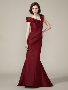 J.Mendel  Silk Gazar Off Shoulder Gown