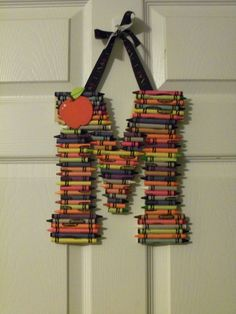 Colorful Crayon Letters by STFDDESIGNS on Etsy, $15.00