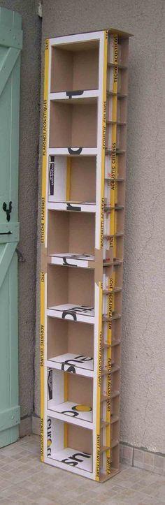 etagere en carton  fait maison (pas de porte) - impressionant de solidité