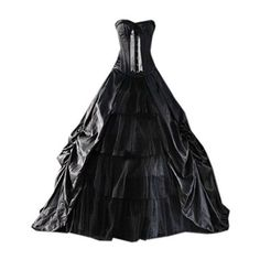 Partiss Womens Medieval Black Gothic Corset Prom Ball Gowns Victorian... ($127) ❤ liked on Polyvore featuring costumes, lady costumes, ladies halloween costumes, prom costume, victorian halloween costumes and women's halloween costumes #womensGothicdress