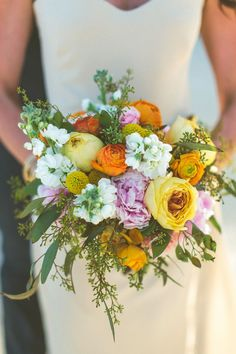 yellow, mustard and pink bouquet LoveStruck Events & Design Wedding