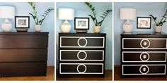 DIY Ikea Malm hack O'verlay Dressers Finally Get Pulls