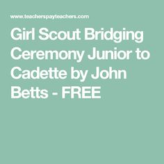 Bridge to Cadette Girl Scouts Certificate - Revised ...