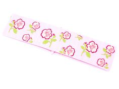 Hairband with pink flowers