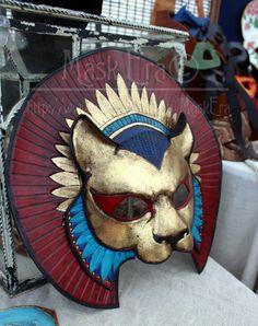 Handmade Leather Mask - Sekhmet. $300.00, via Etsy.