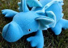 Teal Plush Baby Dragon by bynichole on Etsy, $23.00