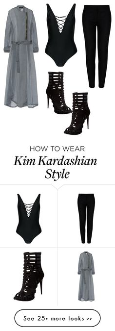 """Black Chic Outfit Inspired By Kim Kardashian 