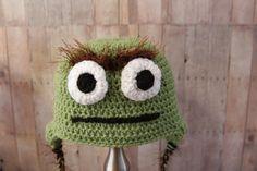 Oscar The Grouch Hat  Sesame Street Hat by CatilyCrochet on Etsy, $16.00