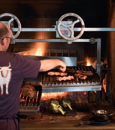The grill at Ox restaurant in Portland, Oregon
