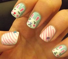 Adorable Valentine's bunnies that I think would look great for Easter.