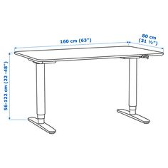 IKEA - BEKANT, Desk sit/stand, birch veneer/black, , You can adjust the height… Ikea Bekant Desk, Office Dividers, Ikea Home, Under The Table, Neat And Tidy, Diy Desk, Work Surface, Particle Board, Writing