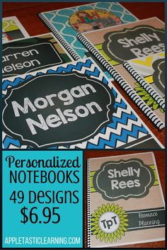 Personalized, custom-made notebooks for just $6.95 each! 49 beautiful and fun designs to choose from! LOVE these for gifts, business needs, and advertising promos! They'll even add your logo!