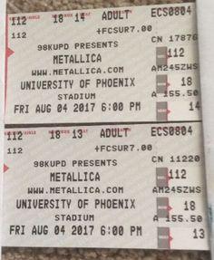 #Tickets 2 Tickets Metallica Avenged Sevenfold & Gojira 8/4/17 University Of Phoenix Stad #Tickets