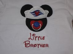 Custom Applique Disney Cruise Mickey Mouse Baby Shirt so making this into a baby girl shirt!
