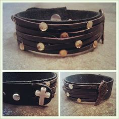 Layed Leather Cuff by DoubleSRodeoCo on Etsy, $10.00