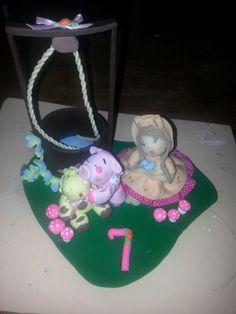Cake toper fazendinha rosa