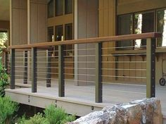 Ultra-tec Stainless Steel Railing System. Modern Porch Design Ideas, Pictures, Remodel and Decor