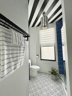 Joyful Designs Studio's Apartment 1A FINAL REVEAL | Week VIII One Room Challenge Spring 2021 Bathroom Floor Tiles, Tile Floor, Glass Shower Doors, Glass Door, Vacation Apartments, Tile Installation, Studio Apartment, My Design, Cool Designs